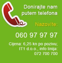 Donirajte nam putem telefona